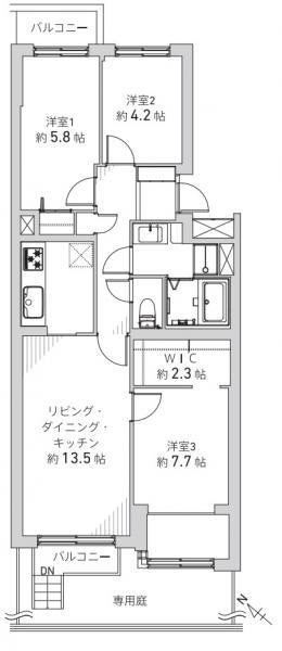 中古マンション 札幌市厚別区厚別北一条4丁目1-3 JR函館本線森林公園駅 1780万円
