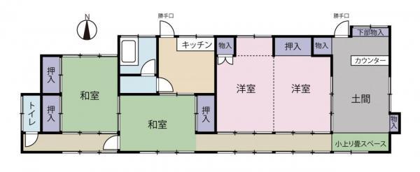 中古戸建 筑西市山崎 真岡鐵道下館二高前駅 298万円
